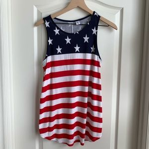 Old Navy Red, White & Blue tank Size Med